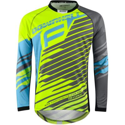 dres Force DOWNHILL fluo-modro-šedý